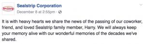 Leader shares grief news