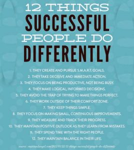 successful people do things differently